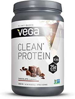 Vega Clean Protein Powder Chocolate (15 Servings, 19.5oz) - BCAAs, Vegan, Non Dairy, Gluten Free, Non GMO