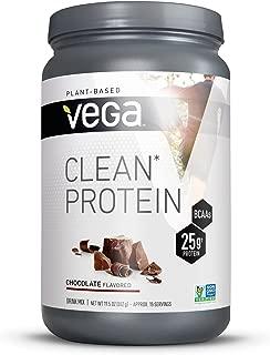 Vega Clean Protein Powder Chocolate (15 Servings, 19.5oz) - BCAAs, Vegan, Non Dairy, Gluten Free, Non GMO