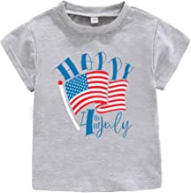 4TH of July Shirt Baby Boys Girls Happy Independence Day tees, Stripes Casual Tops Clothing for Little Kids