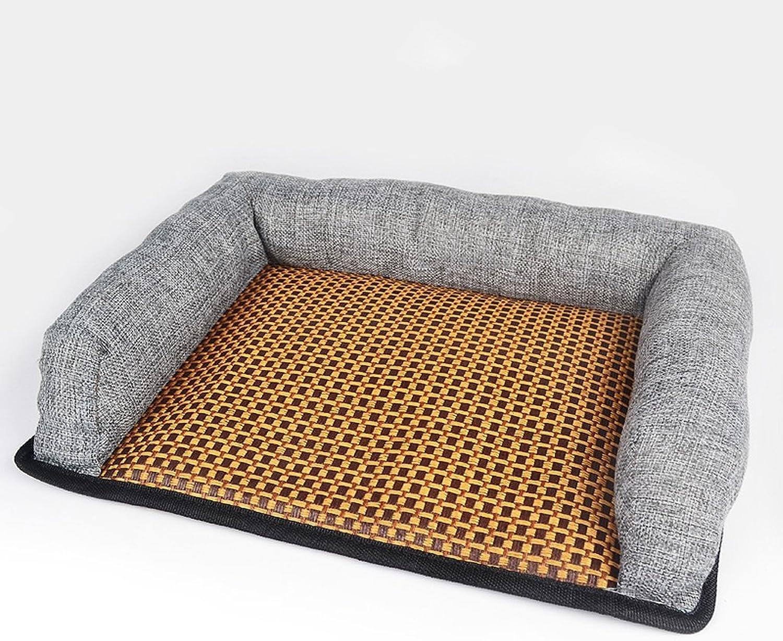 Pet Mats, Pet Nests Four Seasons Universal Cat Litter Kennel Mat Small Dog Corgi Dog Kennel Summer Cool Nest Summer Cool Dog Bed Dog Mat (Size   M.57x46x6cm)
