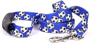 Yellow Dog Design Soccer Balls EZ-Grip Dog Leash-with Comfort Handle
