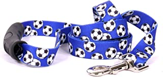 Yellow Dog Design Soccer Balls EZ-Grip Dog Leash-with Comfort Handle