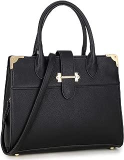 Dasein Women's Handbags Satchel Purses Vegan Leather Top handle Bag Work Tote with Long Shoulder Strap