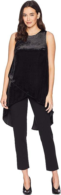 Knit Crepe Jumpsuit with Velvet Tulip Top