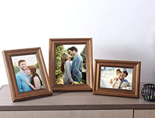 Modish Gold Set of 3 Photo Frame Mix Size 4x6,5x7,6x8