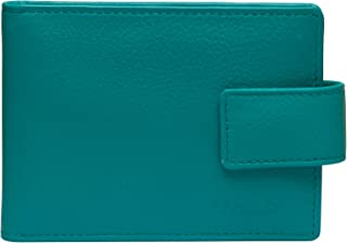 SADDLER Womens Luxurious Real Leather Bifold Credit Card Holder with Tab   Minimalist- Perfect for ID Pass Debit Travel Ca...