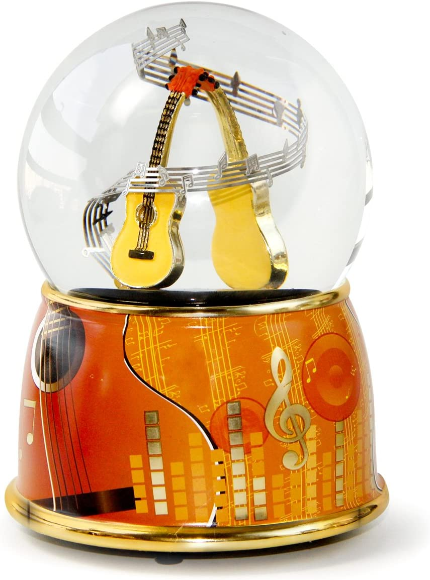 NON ROCK Water Globe for Baltimore Mall Box Musical Instruments 5 popular Guitar Music