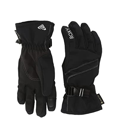 Roxy GORE-TEX(r) Fizz Snow Gloves (True Black) Ski Gloves