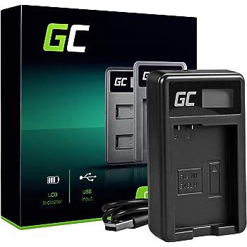 Green Cell® MH-24 Caricabatterie per Nikon EN-EL14 Batteria e D3100 D3200 D3300 D3400 D5100 D5200 D5300 D5500 D5600 Coolpix P7000 P7100 P7700 P7800 Fotocameras (5W 8.4V 0.6A Nero)