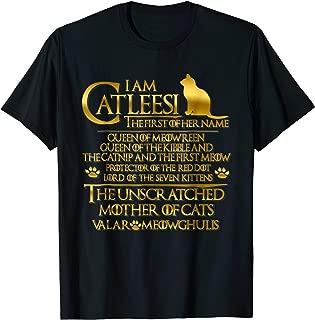 I Am Catleesi Mother Of Cats Tee T-Shirt - Funny Cat Shirt