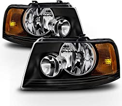 ACANII - For Blk 2003-2006 Ford Expedition Headlights Headlamps Aftermarket 03-06 Driver + Passenger Side