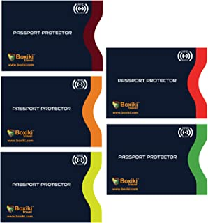 RFID Blocking Passport Sleeves, Set with Color Coding | Identity Theft Prevention RFID Blocking Envelopes by Boxiki Travel...