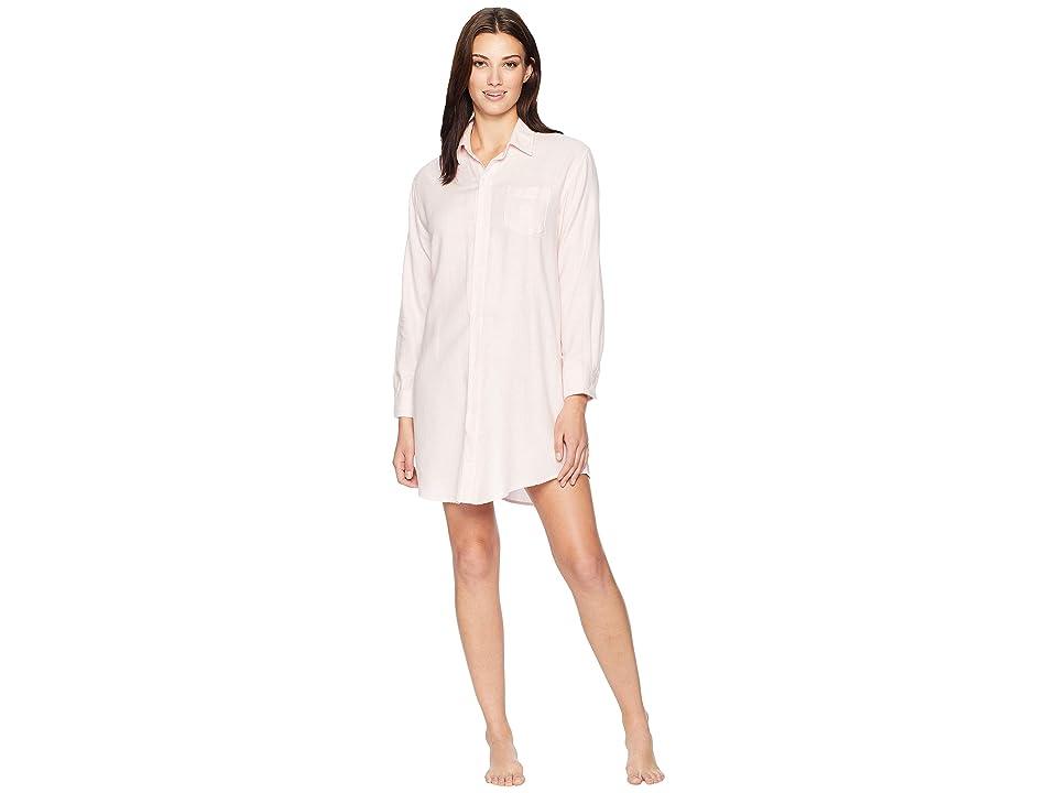 LAUREN Ralph Lauren Woven His Shirt Sleepshirt (Pink Stripe) Women