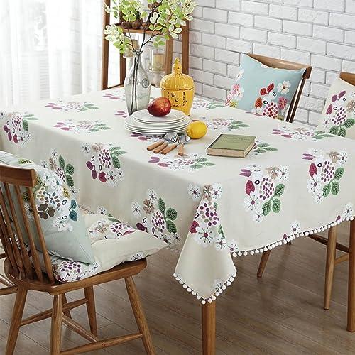 Nappes Tissu de table basse imperméable européen de coton rectangle de nappe de nappe de table tissu de table à hommeger de maison vert (Couleur   Beige, Taille   140220cm)