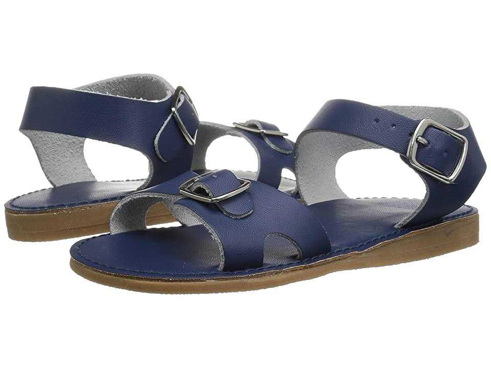 Baby Deer First Steps Classic Double Buckle Sandal (Infant/Toddler) (Navy) Girls Shoes