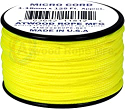 product image for Neon Yellow MS19 1.18mm x 125' Micro Cord Paracord Made in the USA