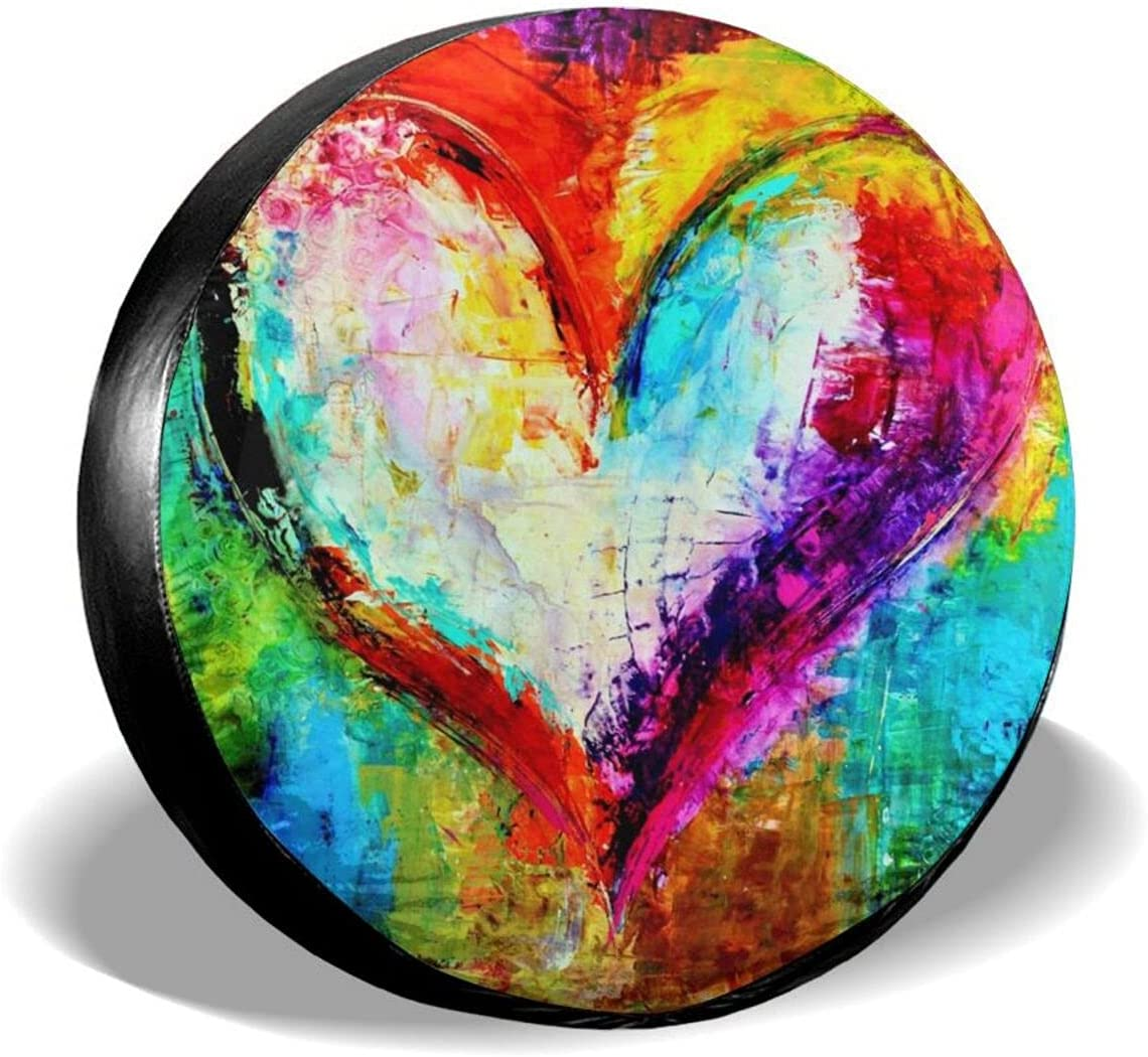 Limited price Inrubie Rainbow Love Heart Spare Tire Cover for 16 17 15 14 Inch Manufacturer direct delivery