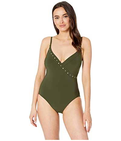 Miraclesuit Amoressa by Miraclesuit Freedom Naomi One-Piece (Olive Green) Women