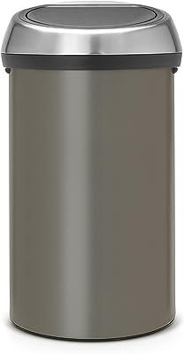 brabantia フタ付きゴミ箱 プラチナ 60L タッチビン 402463