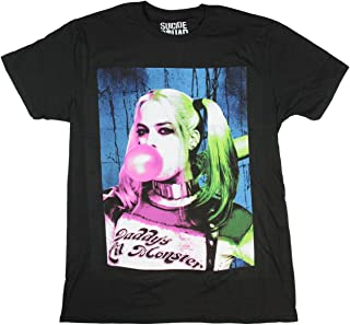 Suicide Squad Harley Quinn Bubble Gum Black Mens T-Shirt