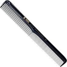 Kent SPC80 Professional Handmade Cutting Comb with Deep Coarse and Fine Teeth (184mm) - Antistatic, Unbreakable, and Heat Resistant