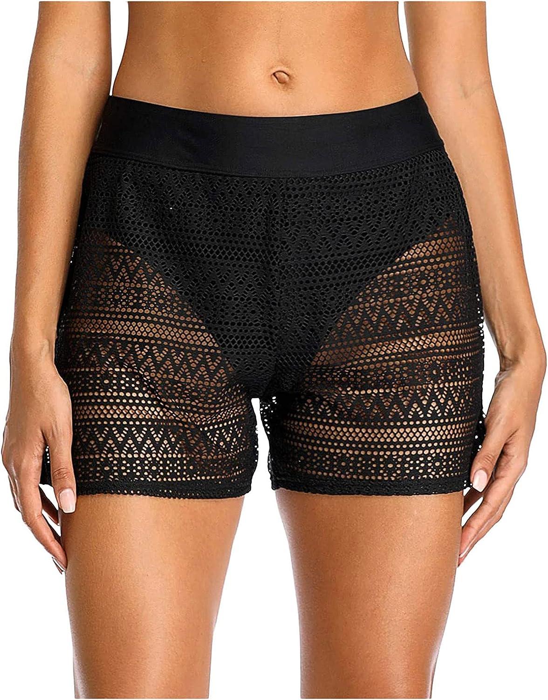 Women Swim Shorts Lace Board Shorts Swimsuit Bottom Swimwear Quick Dry Swimming Beach Shorts Swimwear A81