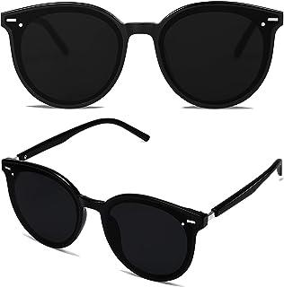 Classic Round Retro Plastic Frame Vintage Large Sunglasses BLOSSOM SJ2067