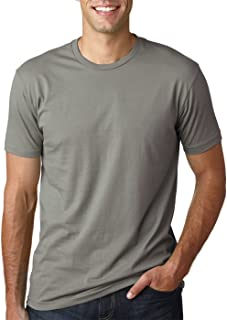 Next Level Mens Premium Fitted Short-Sleeve Crew T-Shirt - Military Green + Warm Grey (2 Pack) - X-Large