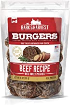 Bark & Harvest Burgers Dog Snacks | Tender, Protein-Rich Patties for Dogs | Real Protein Dog Chews | Natural Dog Treats Made in USA | Pet Provisions from The Farm 6oz