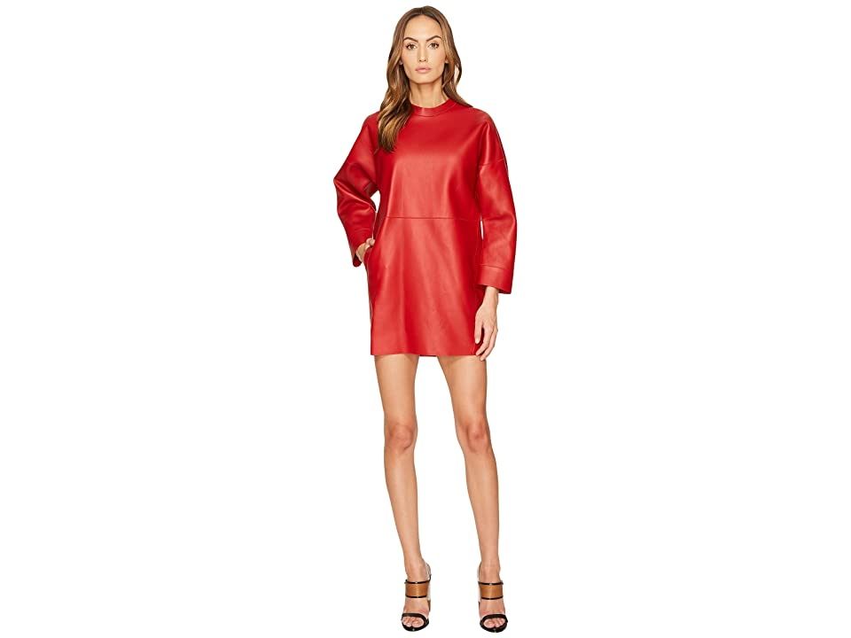 DSQUARED2 Boned Leather Dress (Red) Women
