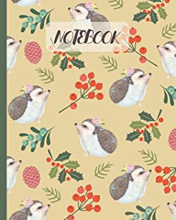 Notebook: Cute Hedgehogs Cartoon Cover (Volume 2) - Lined Notebook, Diary, Track, Log & Journal - Gift Idea for Boys Girls...