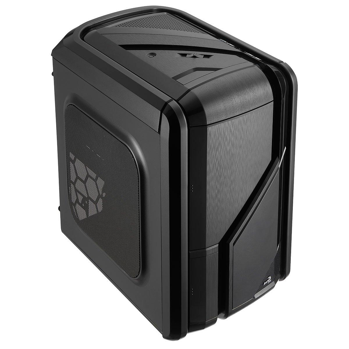Aerocool GTRSBK - Caja Gaming para PC (ATX, iluminación LED Azul/roja, Ventilador Frontal 12 cm, Soporte refrigeración líquida, USB 2.0/3.0, Audio HD), Color Negro: Amazon.es: Informática