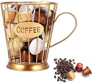 U-HOOME Coffee capsule holder Mug Shape Coffee Pod K Cup Holder Coffee Creamer Container Metal Coffee Holder for Counter E...