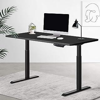 Artiss Standing Desk Sit Stand Riser Motorised Electric Computer Laptop Table Height Adjustable Dual Motor Black
