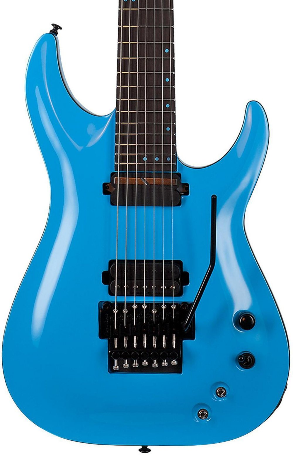 Cheap Schecter Guitar Research KM-7 FR-S Electric Guitar Blue Black Friday & Cyber Monday 2019