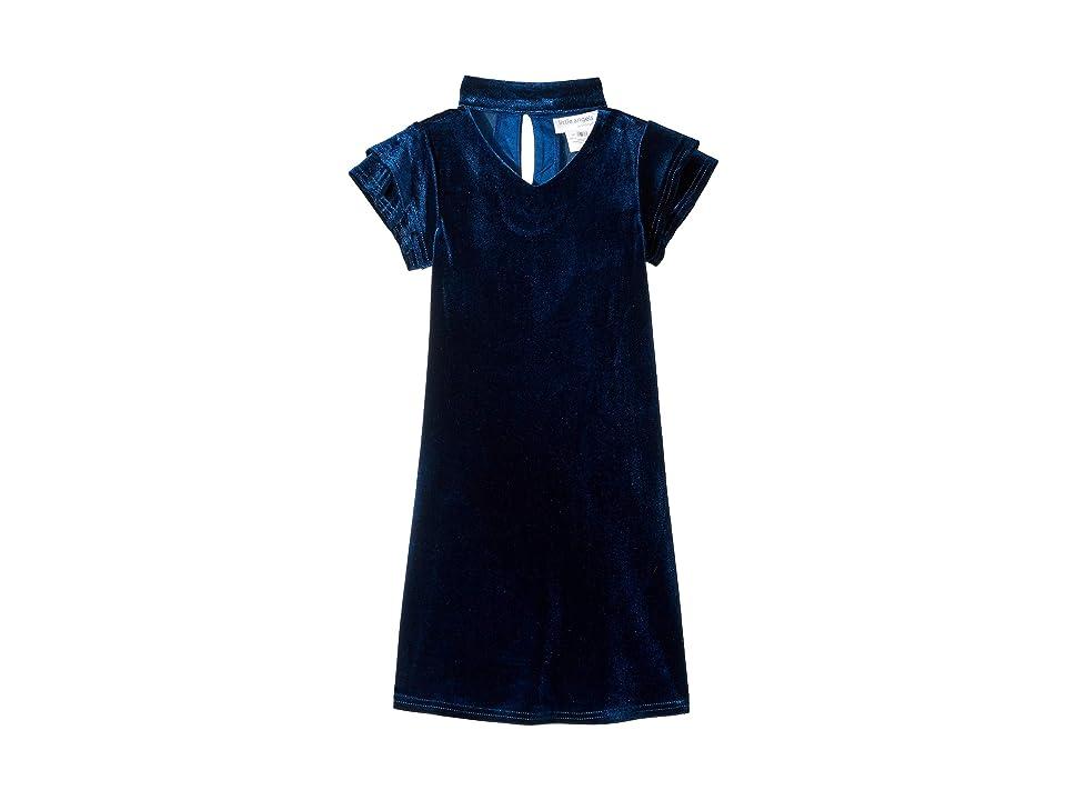 Us Angels Gigi Velvet Dress (Little Kids) (Teal) Girl