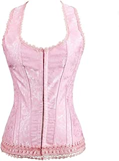 Blidece Women's Sexy Court Sexy Push Up Shapewear Top Overbust Corset Bustier with G-String