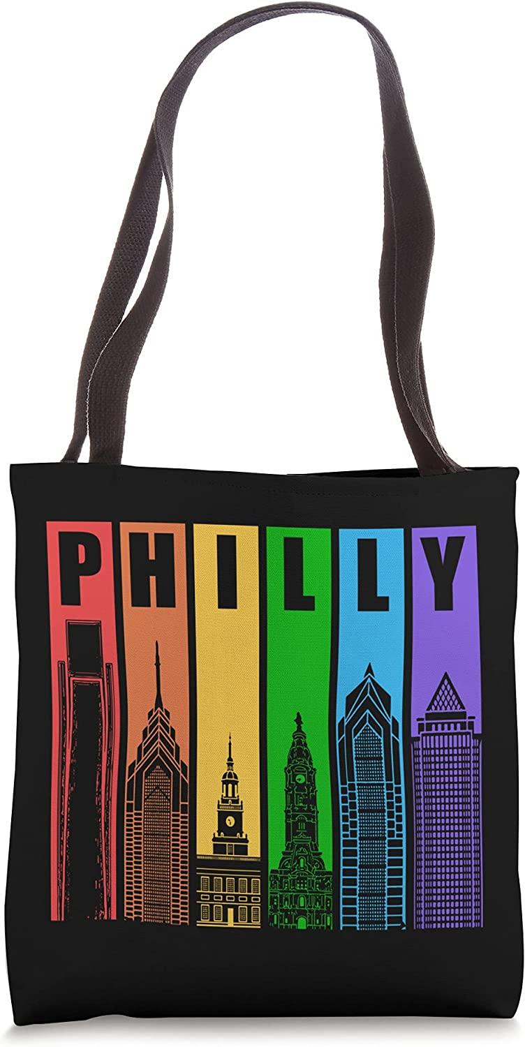 Philly Gay Pride LGBT Philadelphia Flag Rainbow Manufacturer regenerated product Bag Skyline Special Campaign Tote