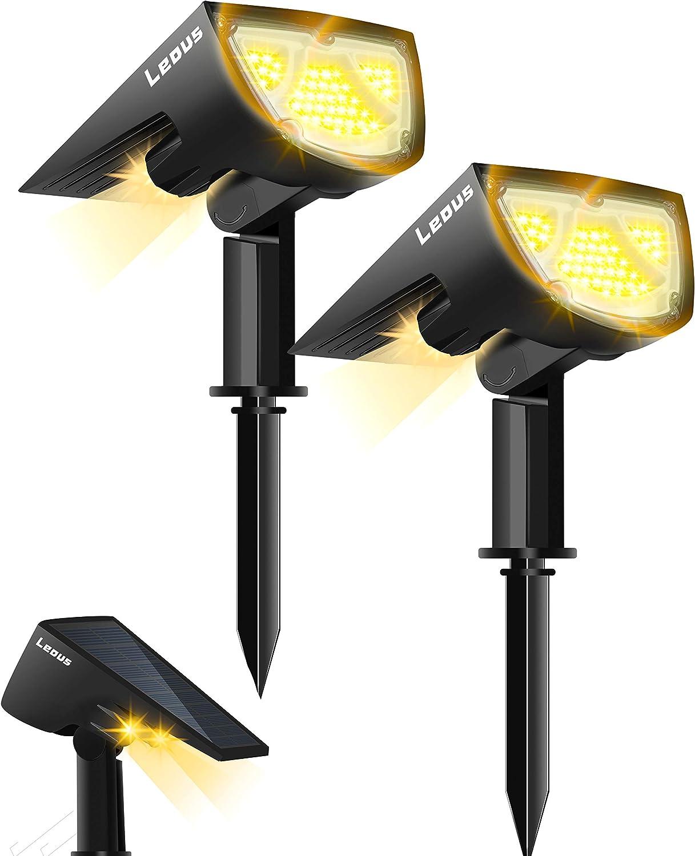 LEOUS 43 LEDs Solar Waterproof Spotlights Landscape Mail order San Francisco Mall IP65