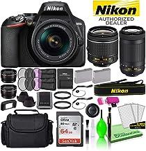 Nikon D3500 24.2MP DSLR Digital Camera with 18-55mm and 70-300mm Lenses (1588) USA Model Deluxe Bundle -Includes- Sandisk ...