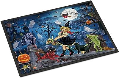 Caroline's Treasures Littlest Witch's Halloween Party Door Mat doormats, Multicolor
