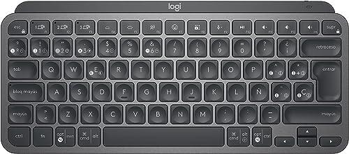 Logitech MX Keys Mini Teclado Inalámbrico Minimalista, Compacto, Bluetooth, Retroiluminado, USB-C, Compatible con App...