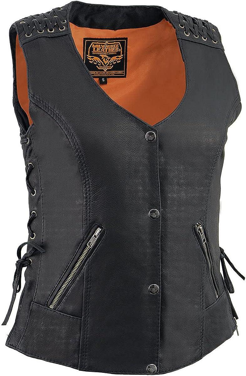 Milwaukee Leather MLL4525 Women's Lace 25% OFF Lightweight Black Cheap