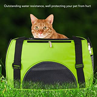 Fake Cat Carrier Clear Views Good Breath Ability and Ventilation Outstanding Water Resistance Good Wear-Resistance Bite Resistant Top-Grade Nylon and Mesh Material Good Durability and Quality Small G