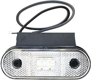 LED Begrenzungsleuchte 12V 24V Umrissleuchte Weiß Anhänger LKW 120x67x18 Halter