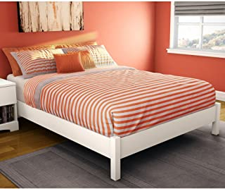 South Shore Step One Platform Bed Size: Queen, Finish: Pure White