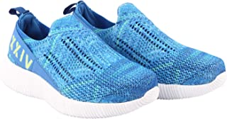 KazarMax XXIV Women's & Girl's Latest Collection, Comfortable & Fashionable Blue Slipon's Socks SneakersTrainersRunning Shoes [WSS002] (Made in India)