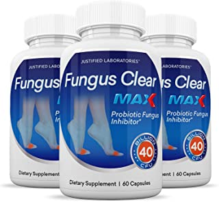 (3 Pack) Fungus Clear Max Pills 40 Billion CFU Probiotic Supports Strong Healthy Natural Clear Nails Plus 180 Capsules