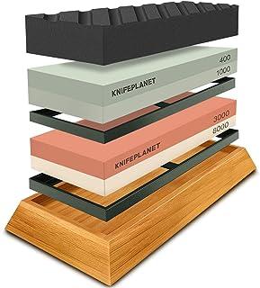 Knife Sharpening Stone Set – 400/1000 and 3000/8000-Grit Professional, Safe Knife..