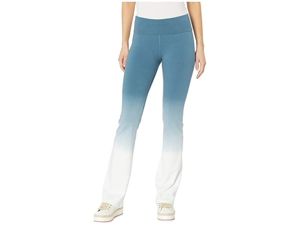 Hard Tail Rolldown Bootleg Flare Pants (Ombre Wash 6) Women